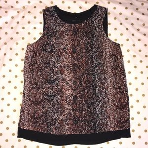 MOSSIMO- XS Brown/Black Snakeskin Blouse